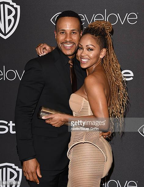 Actress Meagan Good and author DeVon Franklin arrive at the 18th Annual PostGolden Globes Party hosted by Warner Bros Pictures and InStyle at The...