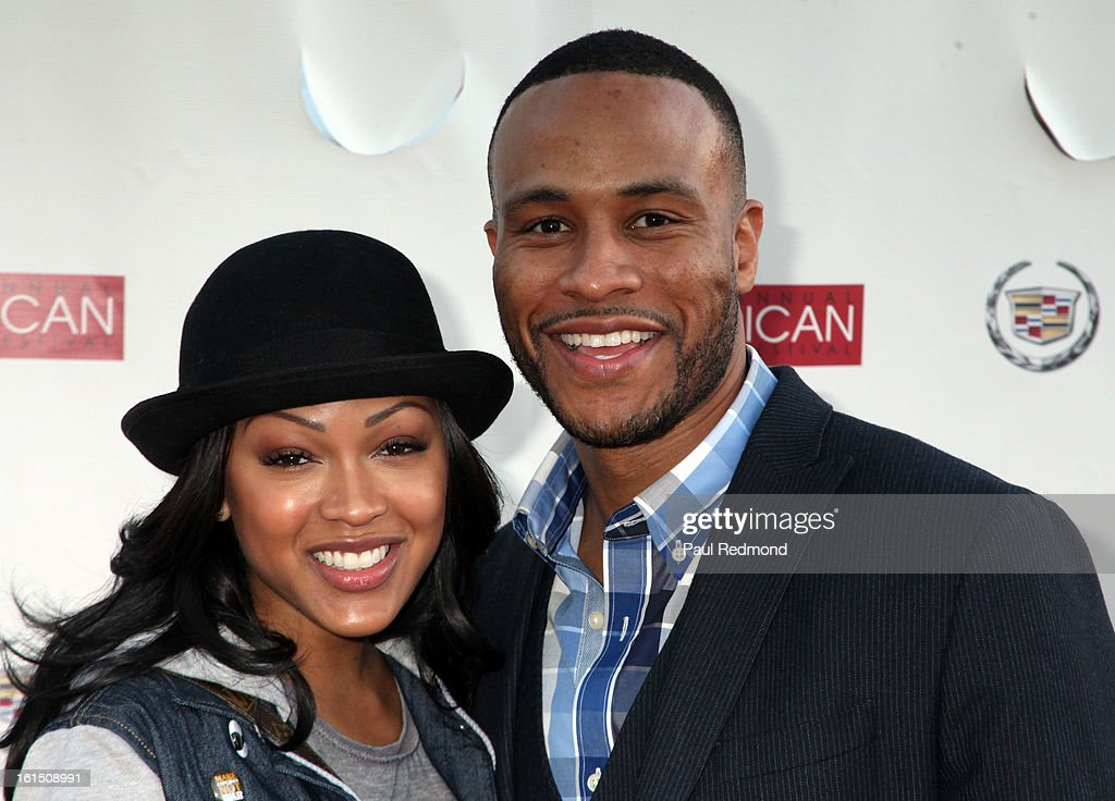 Actress <a gi-track='captionPersonalityLinkClicked' href=/galleries/search?phrase=Meagan+Good&family=editorial&specificpeople=171680 ng-click='$event.stopPropagation()'>Meagan Good</a> and studio executive DeVon Franklin attends 21st Annual Pan African Film Festival 'Double Header' Closing Night at Rave Cinemas on February 11, 2013 in Los Angeles, California.