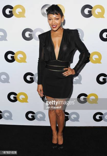 Actress Meagan Good arrives at GQ Celebrates The 2013 'Men Of The Year' at The Wilshire Ebell Theatre on November 12 2013 in Los Angeles California