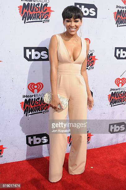 Actress Meagan Good arrives at iHeartRadio Music Awards on April 3 2016 in Inglewood California