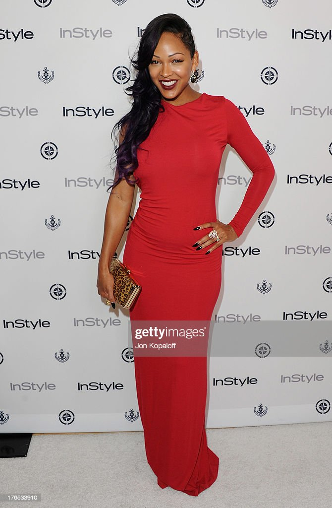 Actress <a gi-track='captionPersonalityLinkClicked' href=/galleries/search?phrase=Meagan+Good&family=editorial&specificpeople=171680 ng-click='$event.stopPropagation()'>Meagan Good</a> arrives at the 13th Annual InStyle Summer Soiree at Mondrian Los Angeles on August 14, 2013 in West Hollywood, California.