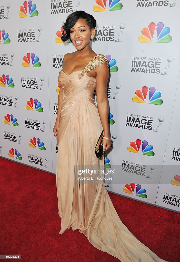 Actress Meagan Good arrives at the 43rd NAACP Image Awards held at The Shrine Auditorium on February 17, 2012 in Los Angeles, California.
