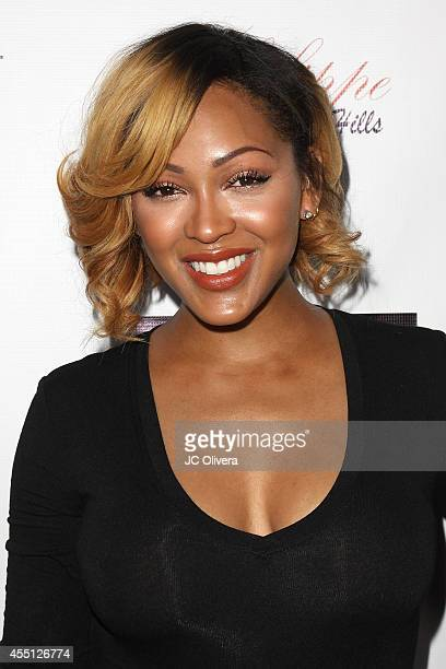 Actress Meagan Good attends Attract Magazine mixer hosted by cover girl Meagan Good at Phillipe Chow on September 9 2014 in Los Angeles California