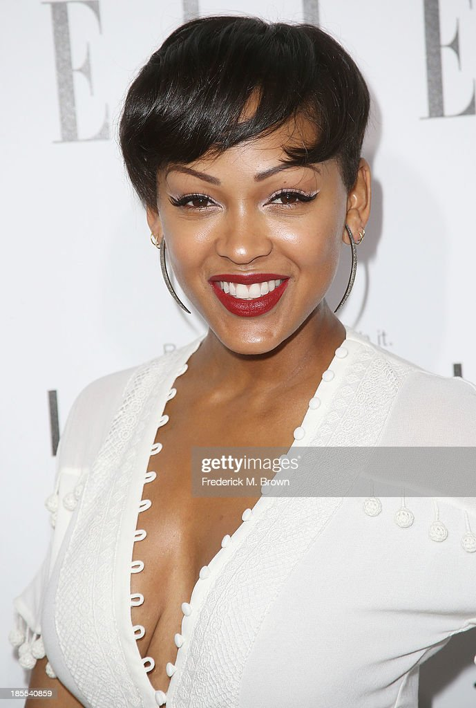 Actress <a gi-track='captionPersonalityLinkClicked' href=/galleries/search?phrase=Meagan+Good&family=editorial&specificpeople=171680 ng-click='$event.stopPropagation()'>Meagan Good</a> attends ELLE's 20th Annual Women in Hollywood Celebration at the Four Seasons Hotel Los Angeles at Beverly Hills on October 21, 2013 in Beverly Hills, California.