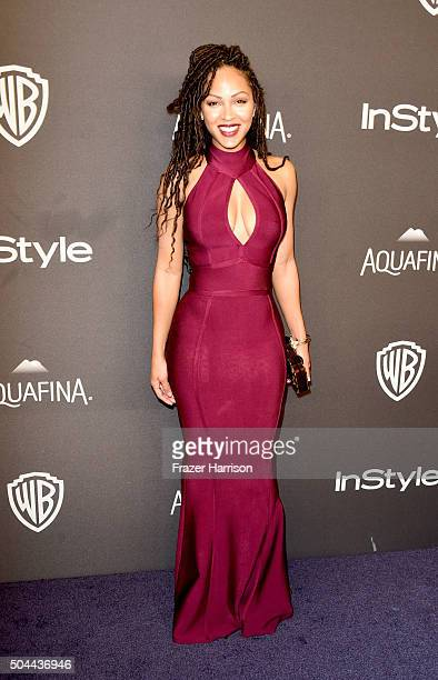 Actress Meagan Good attends InStyle and Warner Bros 73rd Annual Golden Globe Awards PostParty at The Beverly Hilton Hotel on January 10 2016 in...