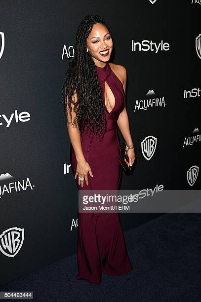 Actress Meagan Good attends The 2016 InStyle And Warner Bros 73rd Annual Golden Globe Awards PostParty at The Beverly Hilton Hotel on January 10 2016...
