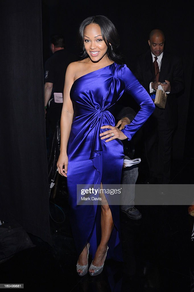 Actress Meagan Good attends the 44th NAACP Image Awards at The Shrine Auditorium on February 1, 2013 in Los Angeles, California.