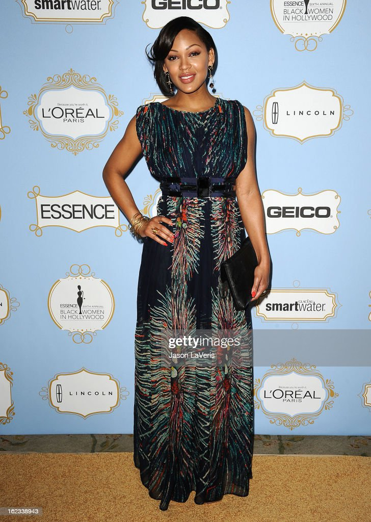 Actress <a gi-track='captionPersonalityLinkClicked' href=/galleries/search?phrase=Meagan+Good&family=editorial&specificpeople=171680 ng-click='$event.stopPropagation()'>Meagan Good</a> attends the 6th annual ESSENCE Black Women In Hollywood awards luncheon at Beverly Hills Hotel on February 21, 2013 in Beverly Hills, California.