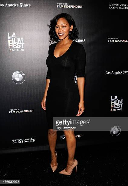 Actress Meagan Good attends the 'A Girl Like Grace' screening during the 2015 Los Angeles Film Festival at Regal Cinemas LA Live on June 12 2015 in...