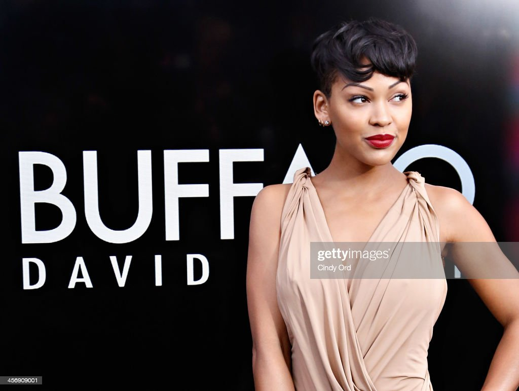 Actress <a gi-track='captionPersonalityLinkClicked' href=/galleries/search?phrase=Meagan+Good&family=editorial&specificpeople=171680 ng-click='$event.stopPropagation()'>Meagan Good</a> attends the Anchorman 2: The Legend Continues Premiere, Sponsored by Buffalo David Bitton on December 15, 2013 in New York City.