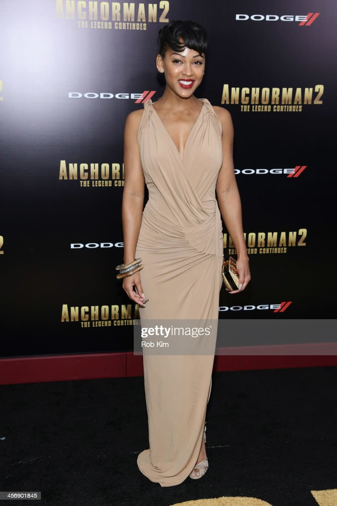 Actress <a gi-track='captionPersonalityLinkClicked' href=/galleries/search?phrase=Meagan+Good&family=editorial&specificpeople=171680 ng-click='$event.stopPropagation()'>Meagan Good</a> attends the 'Anchorman 2: The Legend Continues' U.S. premiere at Beacon Theatre on December 15, 2013 in New York City.