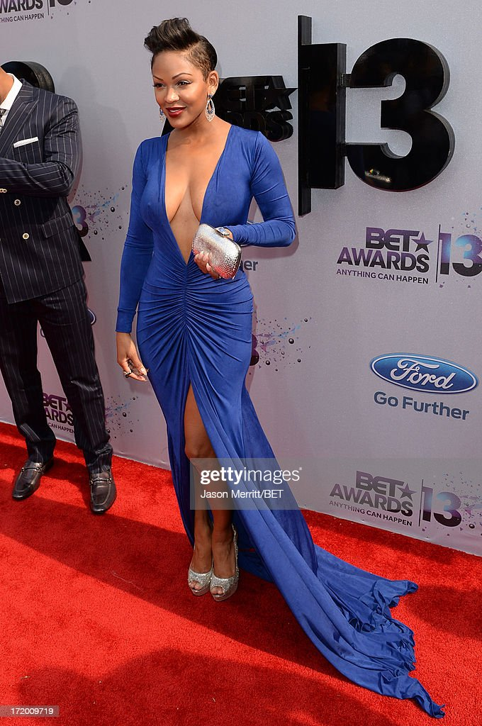 Actress Meagan Good attends the Ford Red Carpet at the 2013 BET Awards at Nokia Theatre L.A. Live on June 30, 2013 in Los Angeles, California.