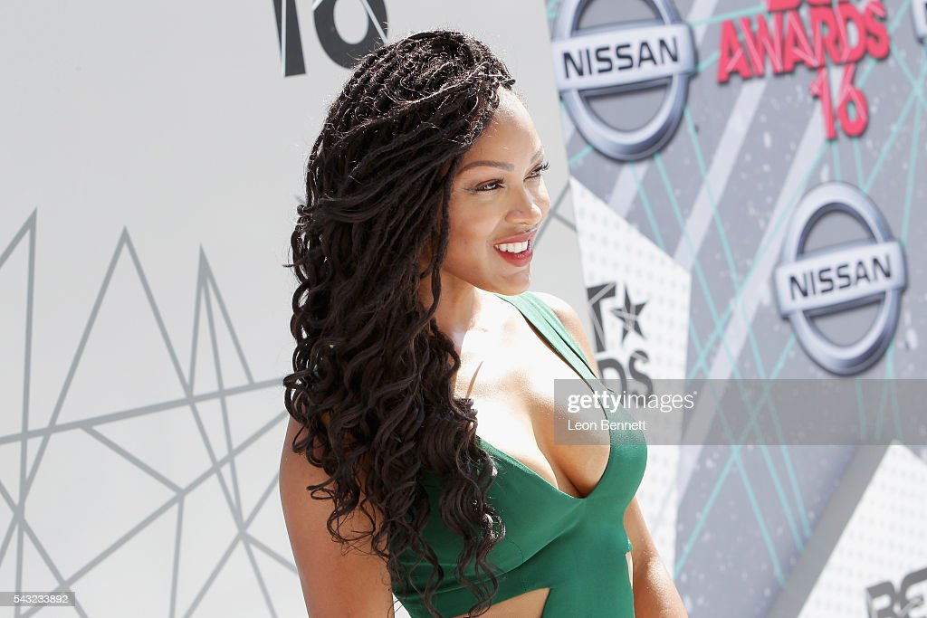 Actress <a gi-track='captionPersonalityLinkClicked' href=/galleries/search?phrase=Meagan+Good&family=editorial&specificpeople=171680 ng-click='$event.stopPropagation()'>Meagan Good</a> attends the Make A Wish VIP Experience at the 2016 BET Awards on June 26, 2016 in Los Angeles, California.