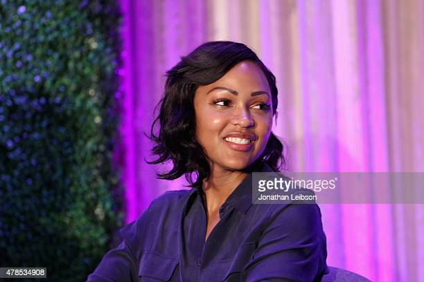 Actress Meagan Good speaks onstage during The 2015 PURPOSE The Family Entertainment FaithBased Summit presented by Variety on June 25 2015 in Los...