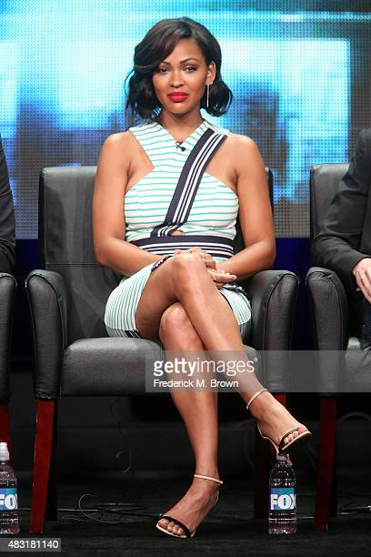 Actress Meagan Good speaks onstage during the 'Minority Report' panel discussion at the FOX portion of the 2015 Summer TCA Tour at The Beverly Hilton...