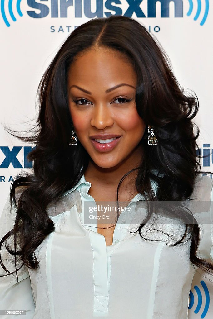 Actress Meagan Good visits the SiriusXM Studios on January 7, 2013 in New York City.