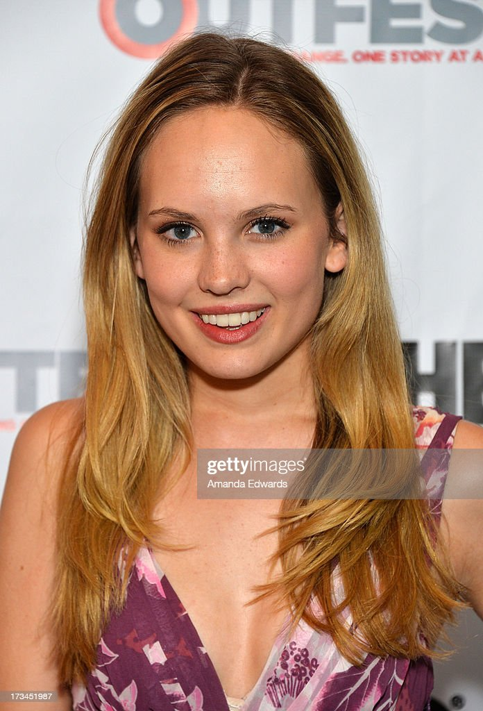 Actress Meaghan Martin arrives at the 31st Annual Outfest Los Angeles LGBT Film Festival screening of 'Geography Club' at Directors Guild Of America on July 14, 2013 in Los Angeles, California.