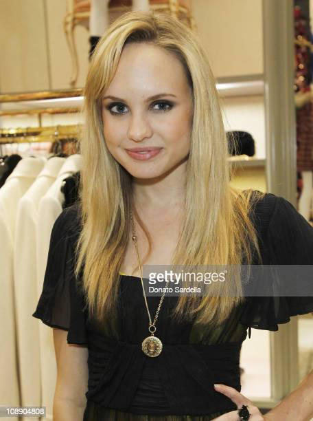 Actress Meaghan Martin attends Juicy Loves Glamour Girls by Erin Fetherston Launch hosted by Vogue at Juicy Couture on November 17 2010 in Beverly...