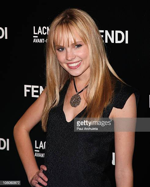 Actress Meaghan Martin attends the FENDI boutique opening at FENDI Beverly Center Boutique on October 7 2010 in Los Angeles California