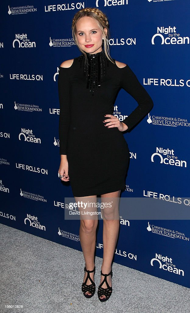 Actress Meaghan Martin attends The Life Rolls On Foundation's 9th Annual Night by the Ocean at the Ritz-Carlton Hotel on November 10, 2012 in Marina del Rey, California.