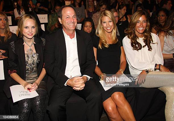 Actress Meaghan Martin TV personality Beth Ostrosky Stern and Kelly Bensimon attend the Badgley Mischka Spring 2011 fashion show during MercedesBenz...