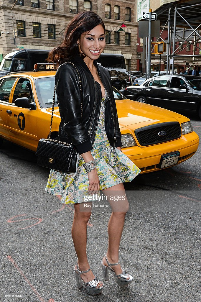 Actress Meaghan Rath leaves her Soho hotel on April 10, 2013 in New York City.