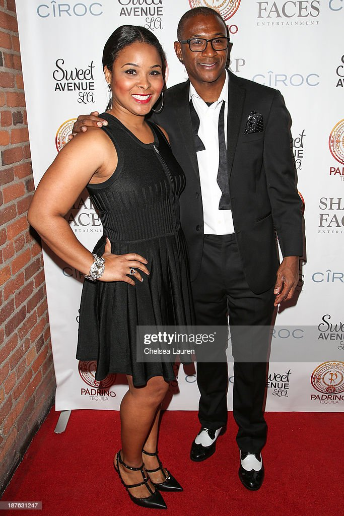 Actress Mechelle Epps (L) and actor / comedian <a gi-track='captionPersonalityLinkClicked' href=/galleries/search?phrase=Tommy+Davidson&family=editorial&specificpeople=619191 ng-click='$event.stopPropagation()'>Tommy Davidson</a> arrive at <a gi-track='captionPersonalityLinkClicked' href=/galleries/search?phrase=Tommy+Davidson&family=editorial&specificpeople=619191 ng-click='$event.stopPropagation()'>Tommy Davidson</a>'s birthday celebration at H.O.M.E. on November 10, 2013 in Beverly Hills, California.