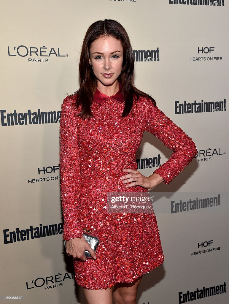 Actress Meg C Steedle attends the 2015 Entertainment Weekly Pre-Emmy Party at Fig & Olive Melrose Place on September 18, 2015 in West Hollywood, California.
