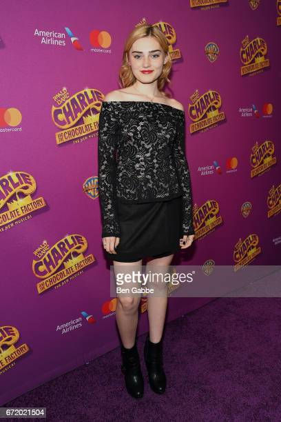 Actress Meg Donnelly attends the 'Charlie And The Chocolate Factory' Broadway opening night at LuntFontanne Theatre on April 23 2017 in New York City