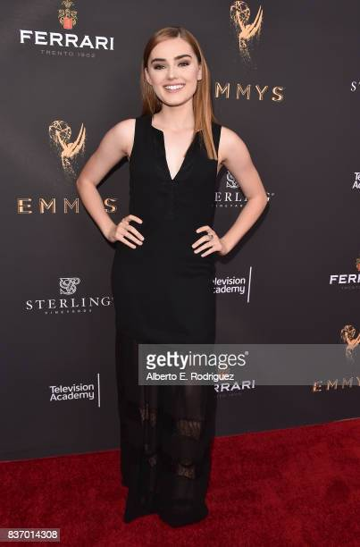 Actress Meg Donnolly attends the Television Academy's Performers Peer Group Celebration at The Montage Beverly Hills on August 21 2017 in Beverly...