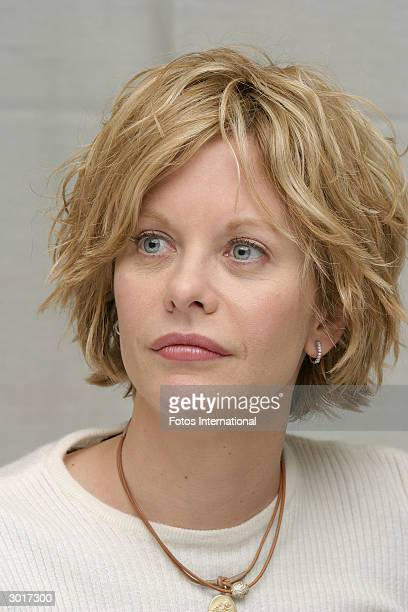 OUT*** Actress Meg Ryan answers questions from the press at a junket for 'Against The Ropes' at the Four Season Hotel on January 222004 in Los...