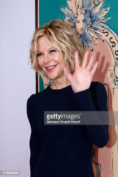 Actress Meg Ryan attends the Schiaparelli show as part of Paris Fashion Week Haute Couture Fall/Winter 2015/2016 on July 6 2015 in Paris France