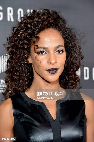 Actress Megalyn Echikunwoke attends WGN America's 'Underground' World Premiere on March 2 2016 in Los Angeles California