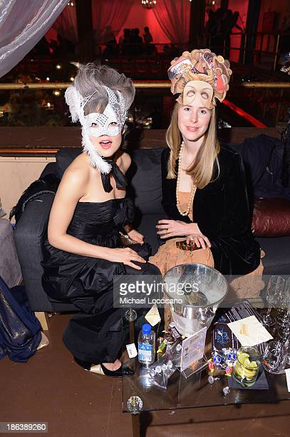Actress Megan Boone and guest attend the 4th Annual UNICEF Masquerade Ball at Angel Orensanz Foundation on October 30 2013 in New York City