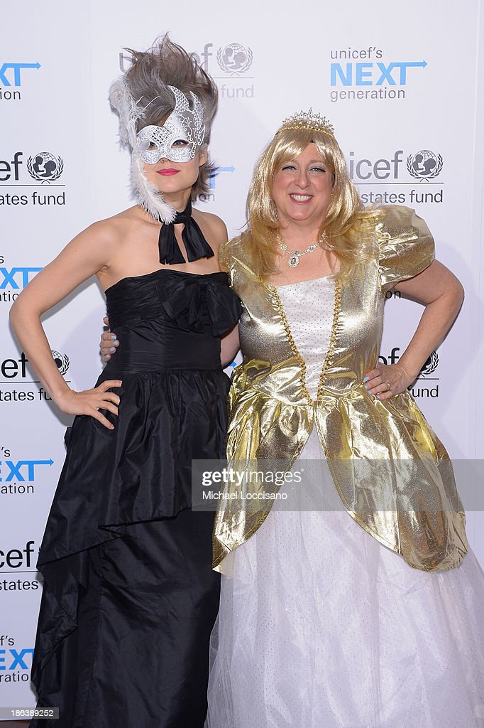 Actress Megan Boone and President CEO of US Fund for UNICEF Caryl Stern attends the 4th Annual UNICEF Masquerade Ball at Angel Orensanz Foundation on...