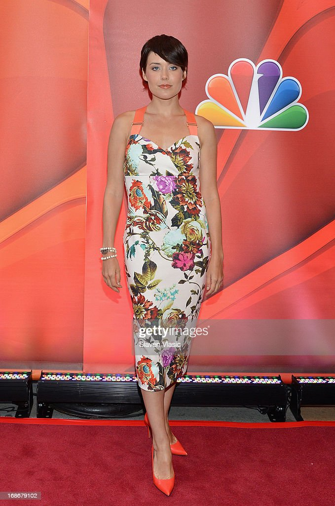 Actress Megan Boone attends 2013 NBC Upfront Presentation Red Carpet Event at Radio City Music Hall on May 13, 2013 in New York City.