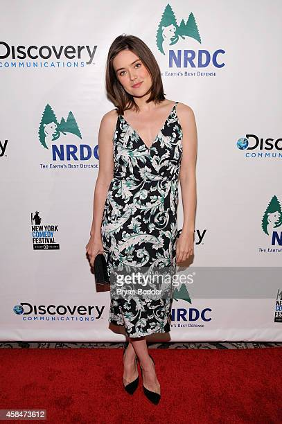 Actress Megan Boone attends NRDC's 'Night Of Comedy' benefiting the Natural Resources Defense Council at 583 Park Ave on November 5 2014 in New York...