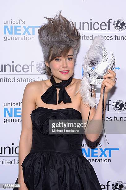 Actress Megan Boone attends the 4th Annual UNICEF Masquerade Ball at Angel Orensanz Foundation on October 30 2013 in New York City