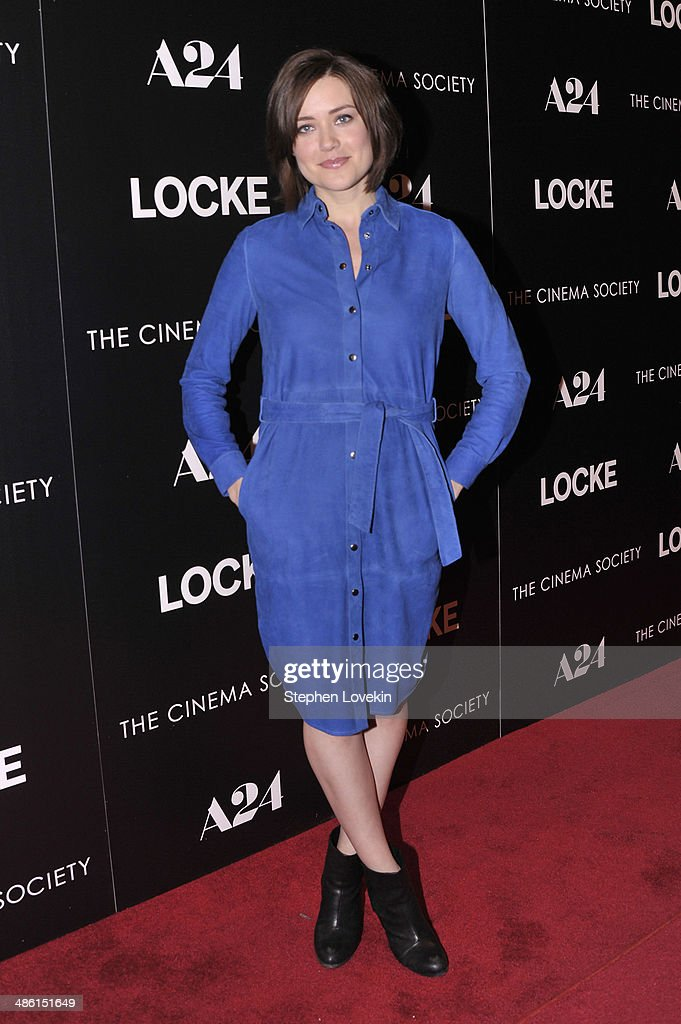 Actress Megan Boone attends the A24 and The Cinema Society premiere of 'Locke' at The Paley Center for Media on April 22, 2014 in New York City.