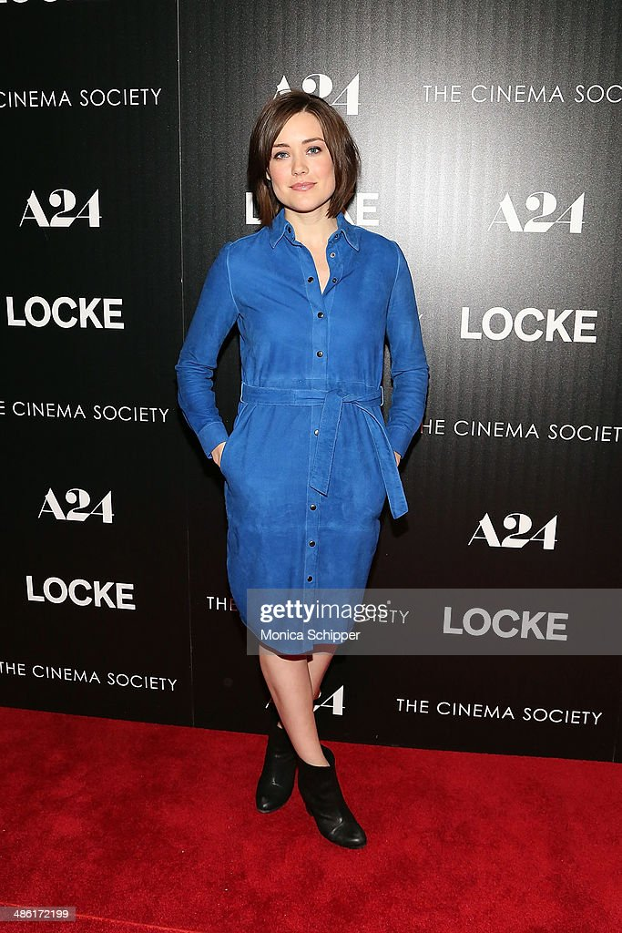 Actress <a gi-track='captionPersonalityLinkClicked' href=/galleries/search?phrase=Megan+Boone&family=editorial&specificpeople=5644334 ng-click='$event.stopPropagation()'>Megan Boone</a> attends the A24 and The Cinema Society premiere of 'Locke' at The Paley Center for Media on April 22, 2014 in New York City.