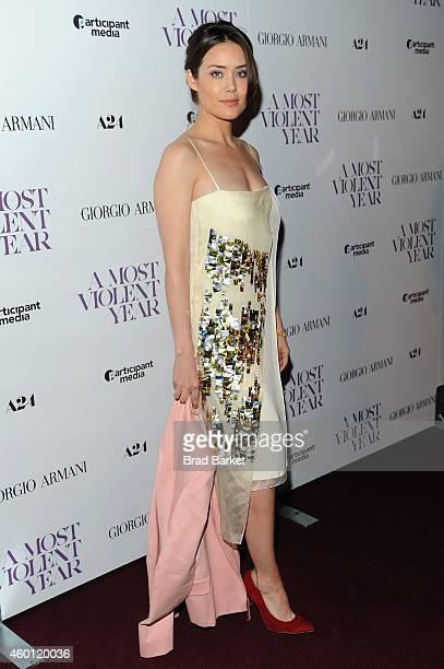 Actress Megan Boone attends the New York premiere of 'A Most Violent Year' at Florence Gould Hall on December 7 2014 in New York City
