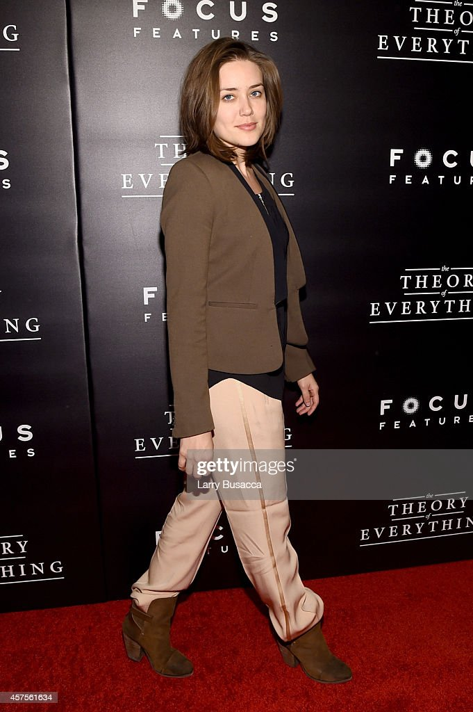 Actress Megan Boone attends 'The Theory Of Everything' New York Premiere at Museum of Modern Art on October 20, 2014 in New York City.