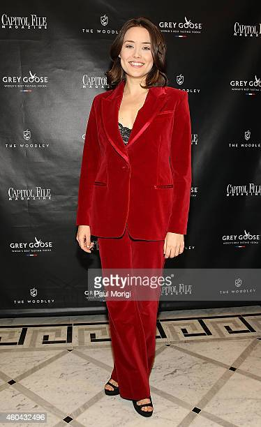 Actress Megan Boone of The Blacklist poses for a photo at the Capitol File Holiday Issue Celebration with Megan Boone at The Woodley on December 13...