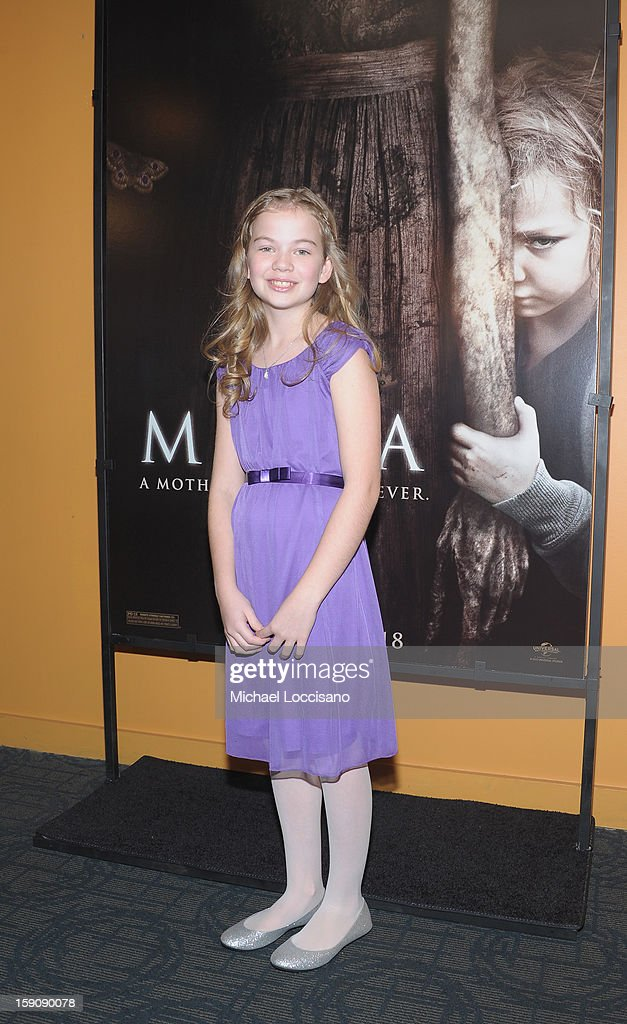 Actress Megan Charpentier attends the 'Mama' New York Screening at Landmark's Sunshine Cinema on January 7, 2013 in New York City.