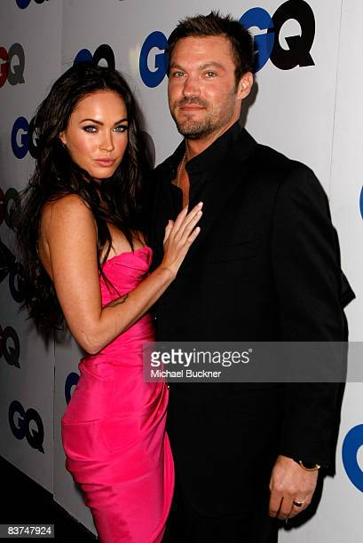 Actress Megan Fox and actor Brian Austin Green arrive at the GQ Men of the Year party held at the Chateau Marmont Hotel on November 18 2008 in Los...