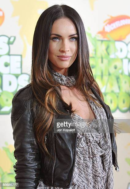 Actress Megan Fox arrives at Nickelodeon's 2009 Kids' Choice Awards at Pauley Pavilion on March 28 2009 in Westwood California