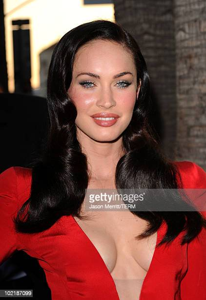 Actress Megan Fox arrives at premiere of Warner Bros 'Jonah Hex' held at ArcLight Cinema's Cinerama Dome on June 17 2010 in Hollywood California