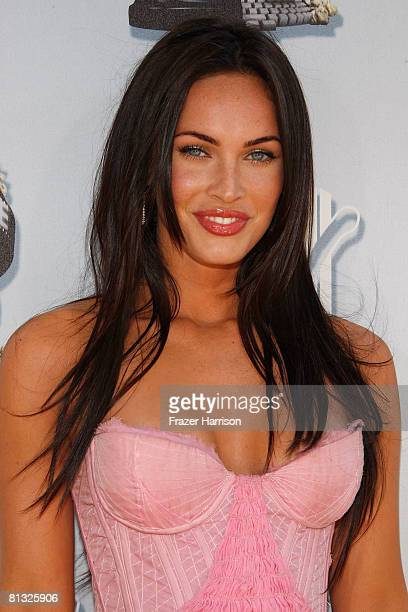 Actress Megan Fox arrives at the 17th annual MTV Movie Awards held at the Gibson Amphitheatre on June 1 2008 in Universal City California