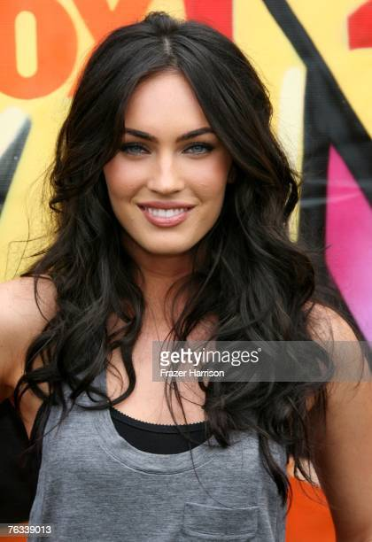 Actress Megan Fox arrives at the 2007 Teen Choice Awards held at The Gibson Amphitheatre on August 26 2007 in Universal City California