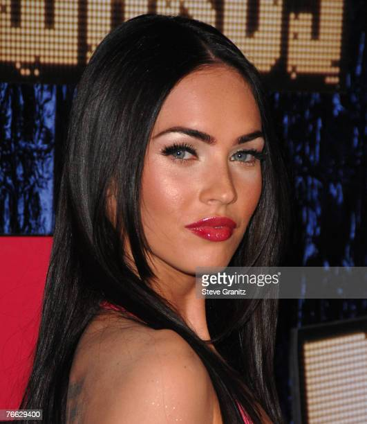 Actress Megan Fox arrives at the 2007 Video Music Awards at the Palms Casino Resort on August 9 2007 in Las Vegas Nevada